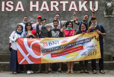 company gathering bank BNI medan